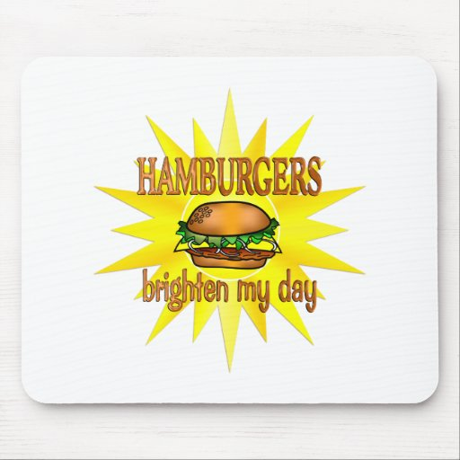 Las hamburguesas aclaran tapetes de raton