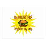 Las hamburguesas aclaran tarjeta postal
