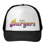 Las hamburguesas, comen gorras de camionero