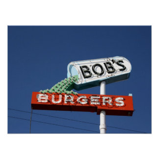 Las hamburguesas de Bob - Sunnyside Washington Posters