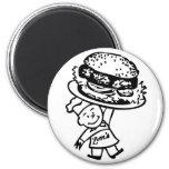 Las hamburguesas del vintage de Zim retro del kits Imán Para Frigorifico