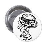 Las hamburguesas del vintage de Zim retro del kits Pins