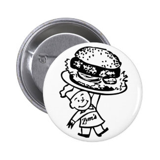 Las hamburguesas del vintage de Zim retro del kits Pin Redondo 5 Cm