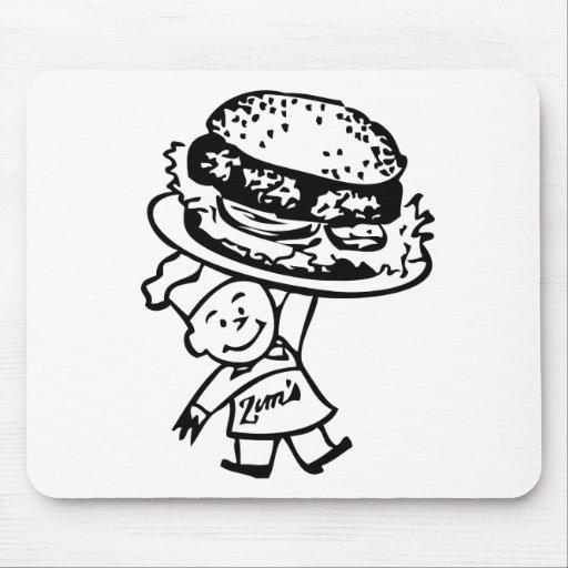 Las hamburguesas del vintage de Zim retro del kits Tapetes De Ratón