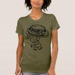 Las hamburguesas del vintage de Zim retro del Camisetas