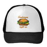 Las hamburguesas enderezan encendido gorros bordados