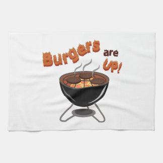 Las hamburguesas están para arriba toallas de cocina
