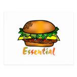 Las hamburguesas son esenciales postales