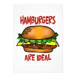 Las hamburguesas son ideales invitaciones personalizada