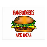 Las hamburguesas son ideales postal