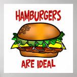 Las hamburguesas son ideales poster