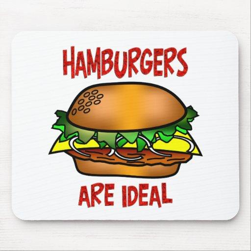 Las hamburguesas son ideales alfombrillas de ratones