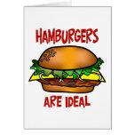 Las hamburguesas son ideales tarjeton