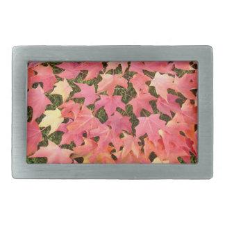 las hebillas del cinturón de las hojas de otoño pe hebillas de cinturon rectangulares