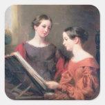 Las hermanas, 1839 pegatinas cuadradases