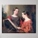 Las hermanas, 1839 poster