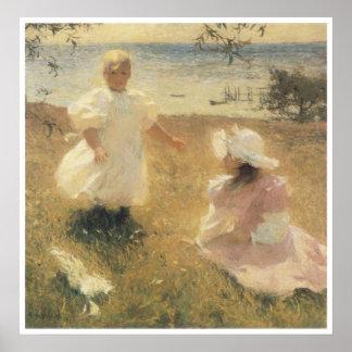 Las hermanas, 1889 póster