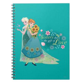 Las hermanas comparten el regalo del amor 2 libro de apuntes