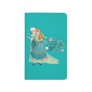 Las hermanas comparten el regalo del amor 2 cuadernos