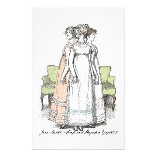 Las hermanas de Bennet - el P&P Ch 2 de Jane Auste Personalized Stationery