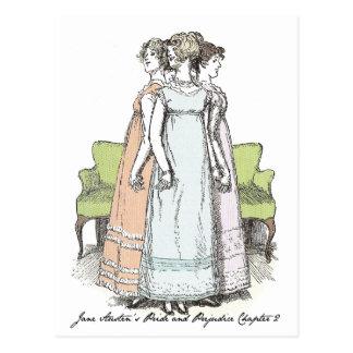 Las hermanas de Bennet - el P&P Ch 2 de Jane Tarjetas Postales