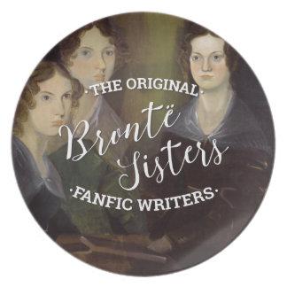 Las hermanas de Bronte - los escritores originales Platos Para Fiestas