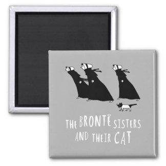 Las hermanas de Bronte y su gato Imán Cuadrado