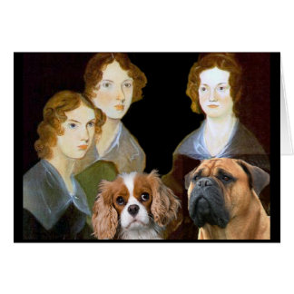 Las hermanas de Bronte y sus perros Tarjeta De Felicitación