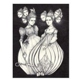 Las hermanas del callejón sin salida y el Nightbir Tarjetas Postales