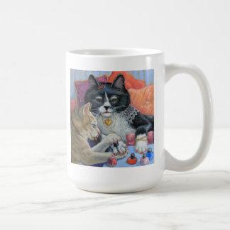 """Las hermanas del gatito de la materia de la Taza"