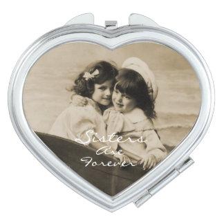 Las hermanas del vintage son para siempre espejo c espejo para el bolso