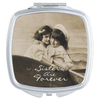 Las hermanas del vintage son para siempre espejo espejo de maquillaje
