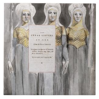 Las hermanas fatales, diseñan 67 'de los poemas de azulejo cuadrado grande