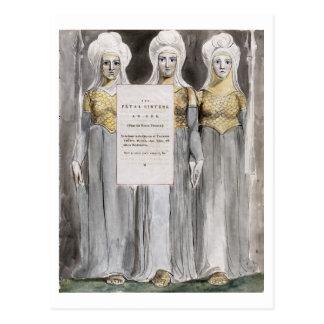 Las hermanas fatales, diseñan 67 'de los poemas tarjetas postales
