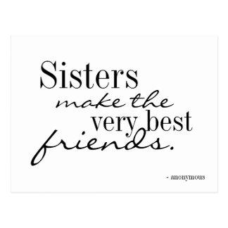 Las hermanas hacen a los mejores amigos - postal