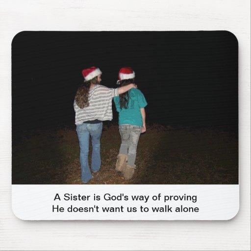 Las hermanas no caminan solamente alfombrillas de ratón