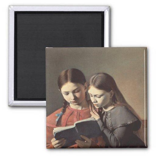 Las hermanas Signe y Enriqueta del artista Imanes Para Frigoríficos