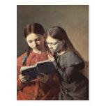 Las hermanas Signe y Enriqueta del artista Postal