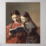 Las hermanas Signe y Enriqueta del artista Póster