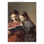 Las hermanas Signe y Enriqueta del artista Tarjeta