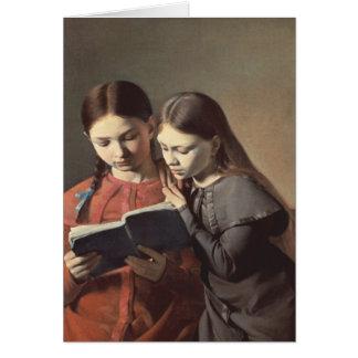 Las hermanas Signe y Enriqueta del artista Tarjeta De Felicitación