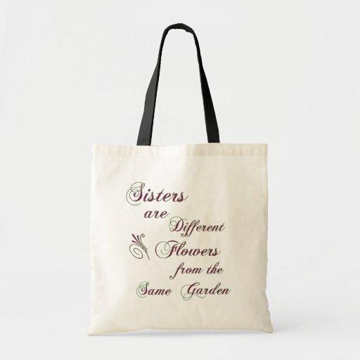Las hermanas son diversos bolsos de las flores bolsa tela barata