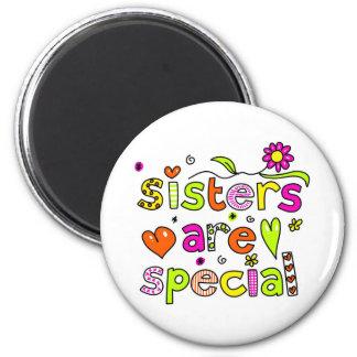 Las hermanas son especiales imán de frigorífico