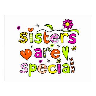 Las hermanas son especiales postal