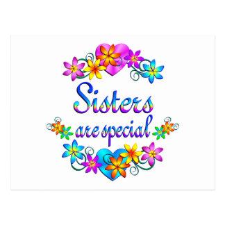 Las hermanas son especiales postales