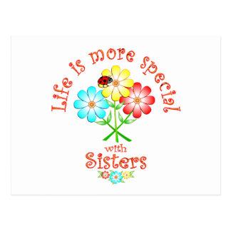 Las hermanas son especiales tarjeta postal