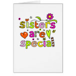 Las hermanas son especiales tarjeton