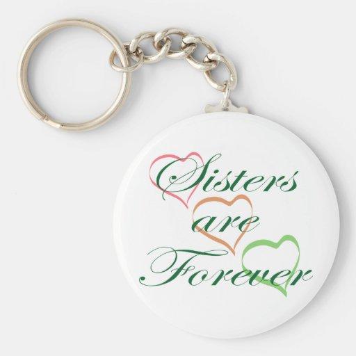 Las hermanas son Forever Llavero Personalizado