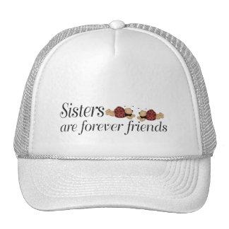 Las hermanas son para siempre amigos gorros bordados
