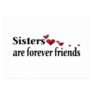 Las hermanas son para siempre amigos postales